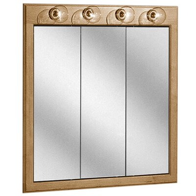 Salerno Series Lighted 30 x 33 Recessed or Surface Mount Medicine Cabinet