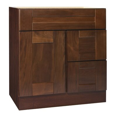 Georgetown Series 30 Chestnut Bathroom Vanity Base Orientation: Right