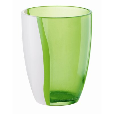 Happy Hour Two Toned Soft Drink Glass In Green (set Of 6)