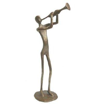 Trumpet Player in Cast Bronze
