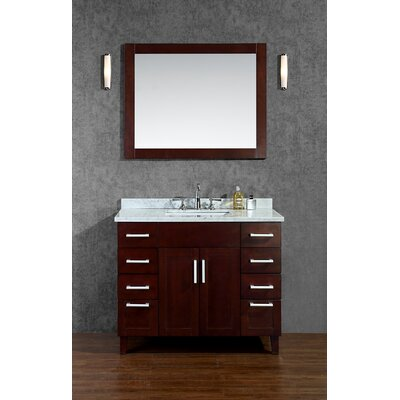 Frampton 42 Single Bathroom Vanity Set with Mirror