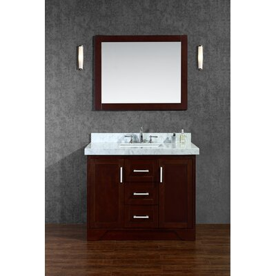 Misty 42 Single Bathroom Vanity Set with Mirror