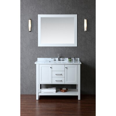 Babineaux 42 Single Bathroom Vanity Set with Mirror