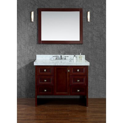 Beckonridge 42 Single Bathroom Vanity Set with Mirror