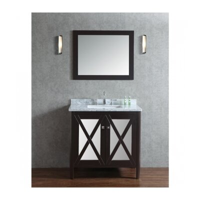 Summit 36 Single Bathroom Vanity Set with Mirror Base Finish: Espresso