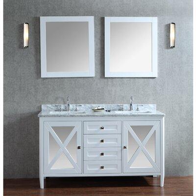 Summit 60 Double Bathroom Vanity Set with Mirror