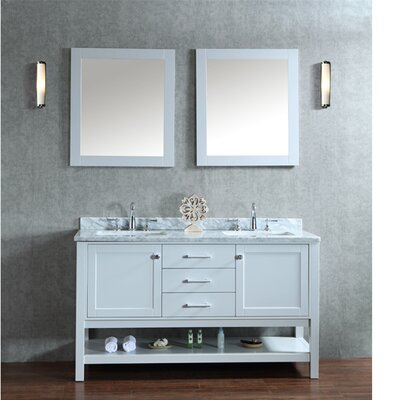 Babineaux 60 Double Bathroom Vanity Set with Mirror