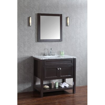 Givens 36 Single Bathroom Vanity Set with Mirror