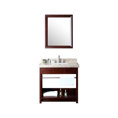 Seabrook 36 Single Bathroom Vanity Set with Mirror