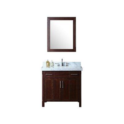 Redford 36 Single Bathroom Vanity Set with Mirror