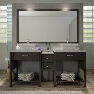 Kennedy 73 Double Sink Vanity Set with Mirror