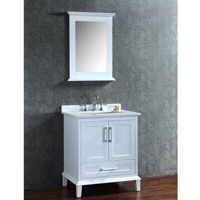 Sunderland 30 Single-Sink Bathroom Vanity Set with Mirror Base Finish: Alpine White