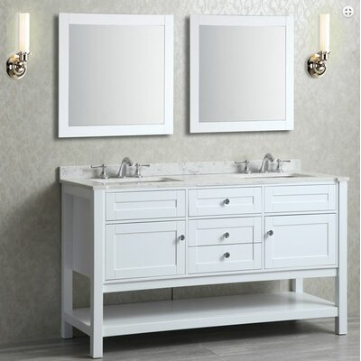 Givens 60 Double Bathroom Vanity Set with Mirror