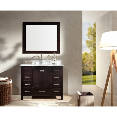 Laureldale 43 Single Bathroom Vanity Set Base Finish: Espresso