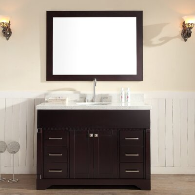 Geraldina 49 Single Sink Vanity Set with Mirror