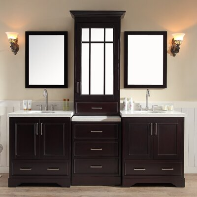 Geraldina 85 Double Sink Vanity Set with Mirror