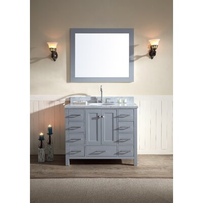 Laureldale 43 Single Bathroom Vanity Set Base Finish: Grey