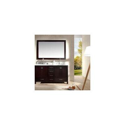 Laureldale 61 Double Bathroom Vanity Set with Mirror Base Finish: Espresso