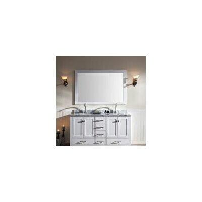 Laureldale 61 Double Bathroom Vanity Set with Mirror Base Finish: White
