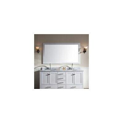 Laureldale 73 Double Bathroom Vanity Set with Mirror Base Finish: White