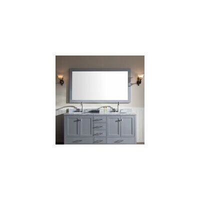 Laureldale 73 Double Bathroom Vanity Set with Mirror Base Finish: Grey