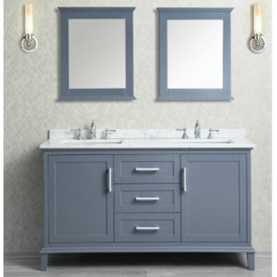Sunderland 60 Double Bathroom Vanity Set with Mirror