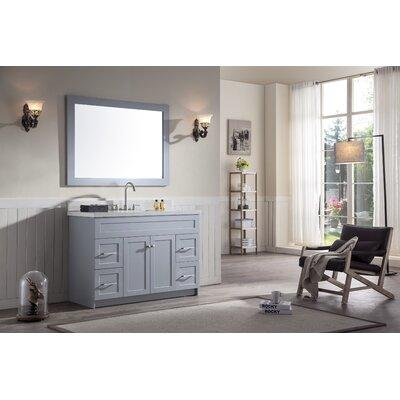 Hamlet 49 Single Bathroom Vanity Set Top Finish: White Quartz, Base Finish: Grey