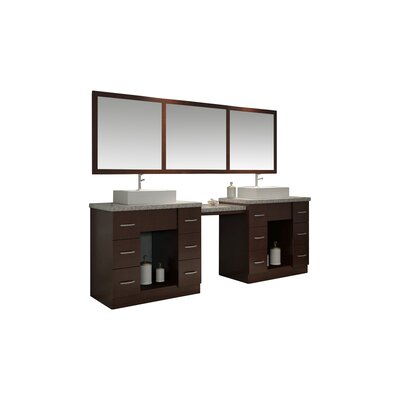 Roosevelt 97 Double Sink Vanity Set with Mirror and Makeup Table