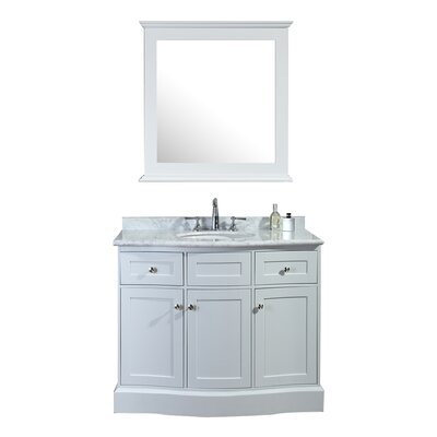 Georgette 42 Single Bathroom Vanity Set with Mirror