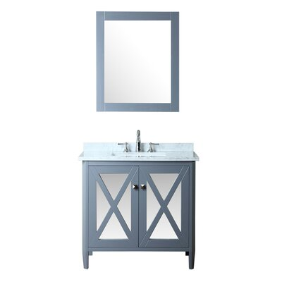 Summit 36 Single Bathroom Vanity Set with Mirror