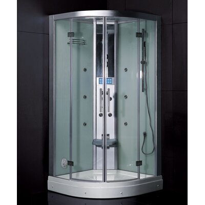"Ariel Platinum Neo-Angle Door Steam Shower - Size: 59"" x 32"" x 87.4"" at Sears.com"