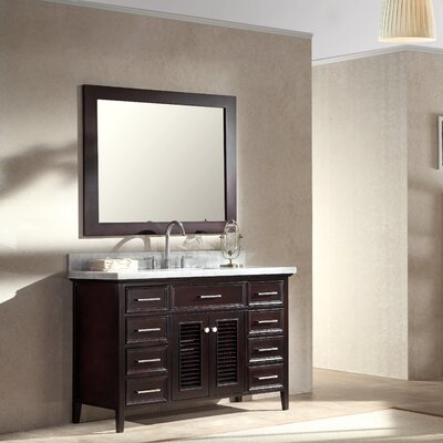 Hamil 49 Single Bathroom Vanity Set with Mirror Base Finish: Espresso
