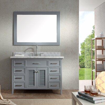 Hamil 49 Single Bathroom Vanity Set with Mirror Base Finish: Grey