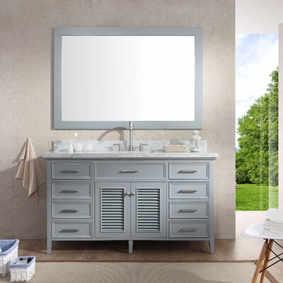 Hamil 61 Single Bathroom Vanity Set with Mirror Base Finish: Grey