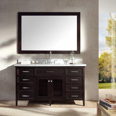Hamil 61 Single Bathroom Vanity Set with Mirror Base Finish: Espresso