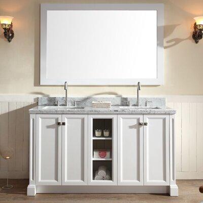Asa 61 Double Bathroom Vanity Set Base Finish: White