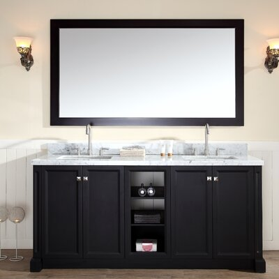 Westwood 73 Double Bathroom Vanity Set Base Finish: Black