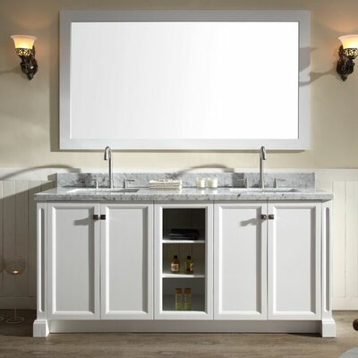 Westwood 73 Double Bathroom Vanity Set Base Finish: White