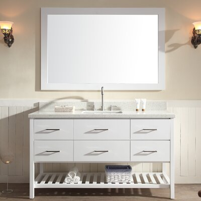 Felman 61 Single Sink Vanity Set with Mirror
