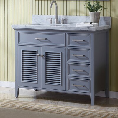 Brewster Left Offset 43 Single Bathroom Vanity with Mirror
