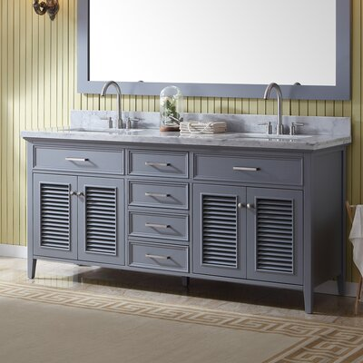 Brewster 73 Double Bathroom Vanity with Mirror