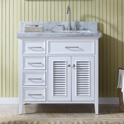 Brewster Right Offset 37 Single Bathroom Vanity with Mirror