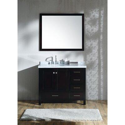 Cambridge 43 Single Bathroom Vanity Set Base Finish: Espresso