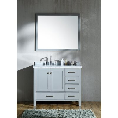 Cambridge 43 Single Bathroom Vanity Set Base Finish: Gray
