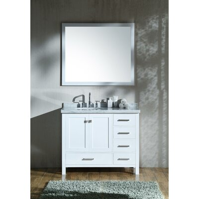 Marine 43 Wood Single Bathroom Vanity Set Base Finish: White