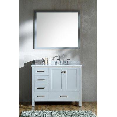 Cambridge 43 Single Bathroom Vanity Set Base Finish: Gray