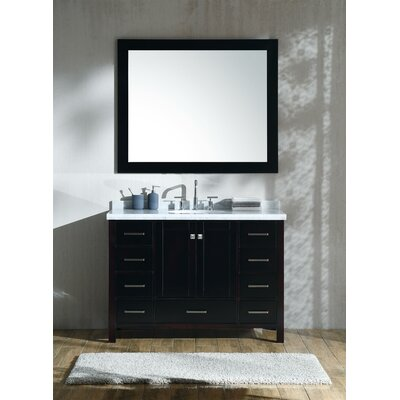 Marine 49 Single Bathroom Vanity Set with Mirror Base Finish: Espresso