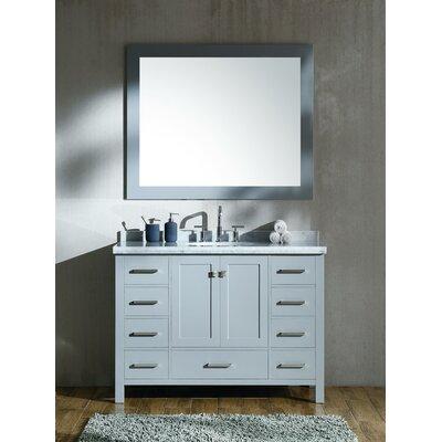 Marine 49 Single Bathroom Vanity Set with Mirror Base Finish: Grey