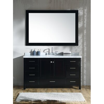 Marine 61 Single Bathroom Vanity Set Base Finish: Espresso