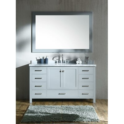 Cambridge 61 Single Bathroom Vanity Set Base Finish: Gray